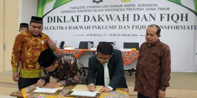 Penandatanganan MoU Diklat Dakwah dan Fiqh LDII-UINSA